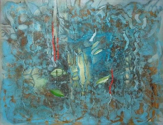 Con las lluvias de Abril ..., t.mx-tela, 114x146, 2005