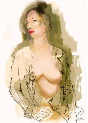La blusa abierta. Arte Nuevo Digital