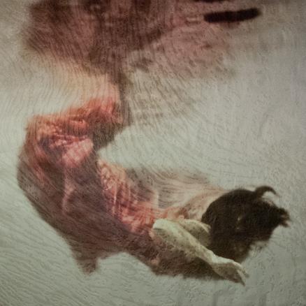 Eva Santín. Ophelia II, Xilografía sobre impresión digital