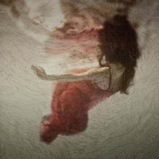 Eva Santín. Ophelia I, Xilografía sobre impresión digital