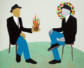 Dialogue. 130 x 162 cm. Acrilico sobre lienzo. 2011