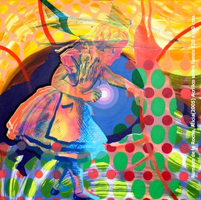 Alicia, Acrilico sobre lienzo 100 x 100 cms | Ir a la ficha del Artista 'Marta de la Rocha'
