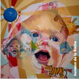 Collage pop Acrilico sobre lienzo 60 x 60 cms.