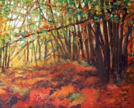 Ambroz II-Guardianes del Bosque-colección JMENDEZ 130 x 162 cm. tmixta slienzo-