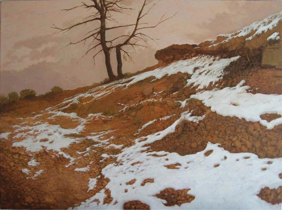 Nieve y árbol seco