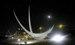 escultura en acero inox dos lunas Autovia del Mediterraneo, Almeria