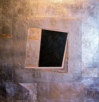 De plata. 80x80 cm. Mixtatela