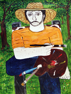 acrylico sobre lienzo,38x30 2008 | Ir a la ficha del Artista 'Francisco Vidal'