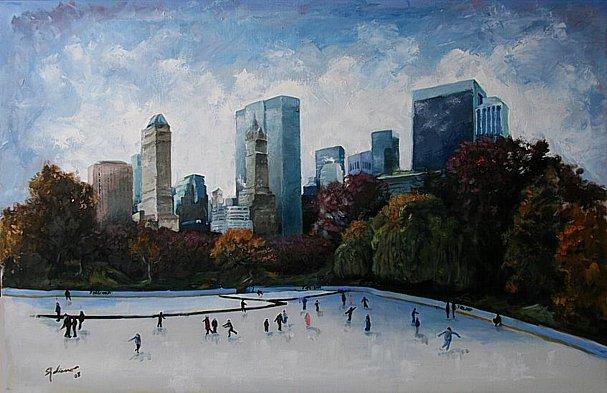 Central Park, Nueva York. Oleo slienzo, 2008