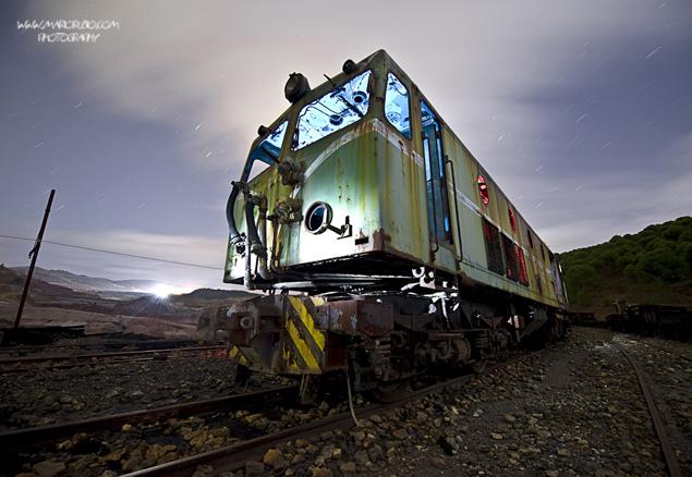 Lighting Train in Riotinto, Huelva Spain