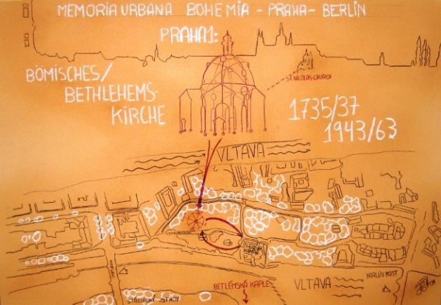 Sketch Memoria Urbana Bethlehemskirche Praga I