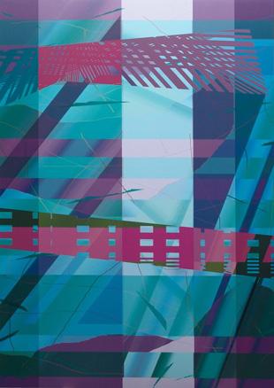 Variación composición 010306. 2007. Impresión digital. 200x135 cm.