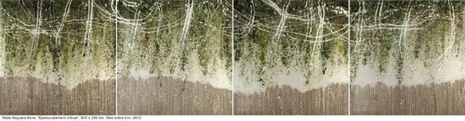 épanouissement dhiver. 800 x 200. óleo s lino. 2010