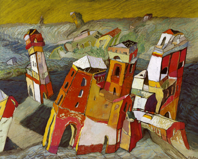 La Fortaleza Roja oil on canvas 2004