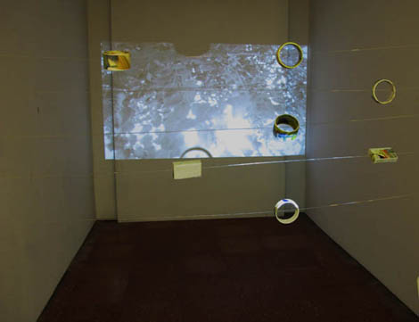 instalación en Sala Mateo Inurria para exposición CAJITA DE MÚSICA, febrero 2013