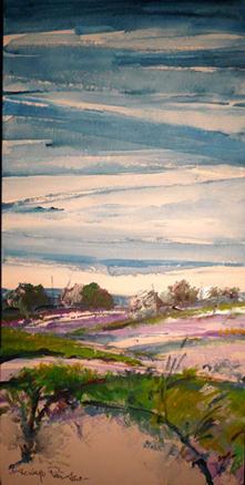 paisaje onirico azul