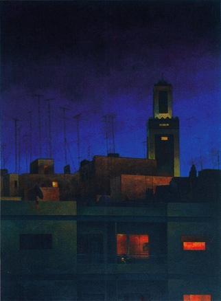 Tánger. Mezquita de noche.Óleo-tela, 2001 | Ir a la ficha del Artista 'Consuelo Hernández'