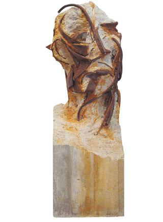 Escombro -fósil-. Hierro y hormigón. 2001. 65x25x29