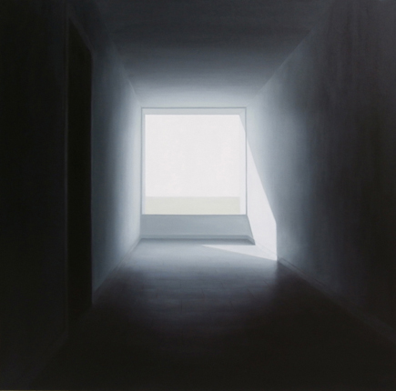 Interior 5. AcrílicoLienzo. 100x100 cm | Ir a la ficha del Artista 'Mónica Dixon'