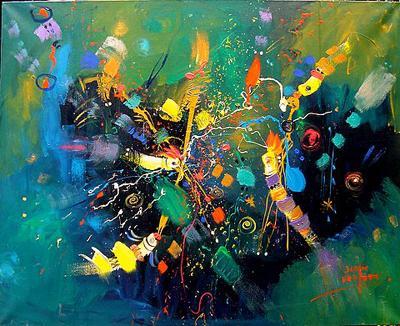Horizontes cercanos...  Acrílico sobre tela  150x120 cms. | Ir a la ficha del Artista 'Sergio Vergara Arteaga'