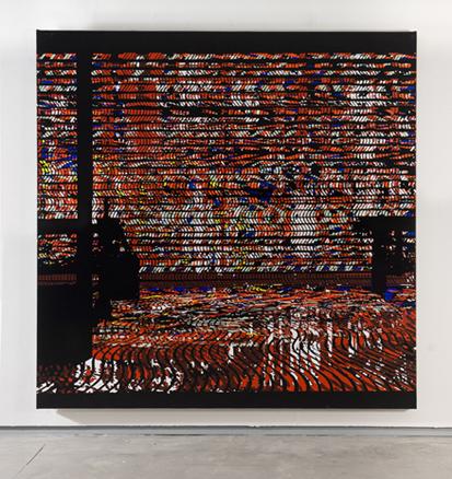 De la serie Take off your shoes, acrílico sobre tela, 200 x 200 cm.