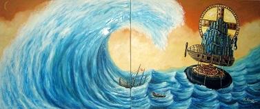 Solo la Fe salva.Oleo sobre lienzo.80 x 60 pulgadas.2011