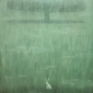 Coniglio bianco_250x250 cm.