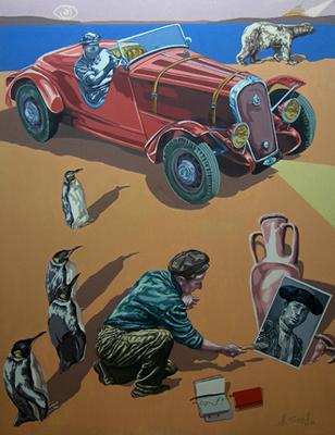 EL RITO MEDITERRÁNEO, 2010. Óleo sobre lienzo. 146x114 cm
