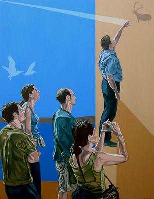 EL TIEMPO COMPRIMIDO, 2008. Óleo sobre lienzo. 146x114 cm | Ir a la ficha del Artista 'Salvador Torres'