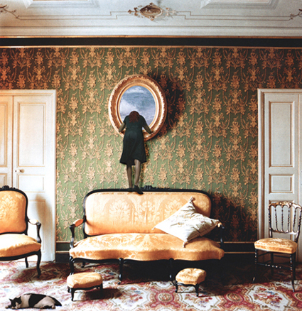 A través del espejo - fotografía 40 x 40 cm