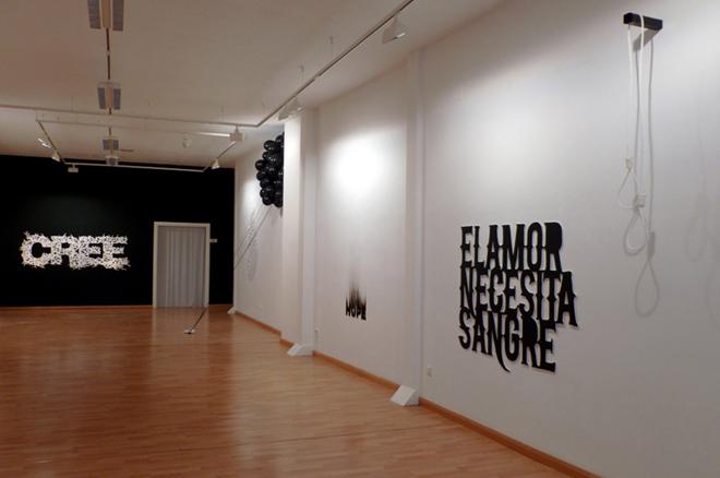 El amor necesita sangre  Galería Sicart | Ir a la ficha del Artista 'Fernando Navarro Vejo'