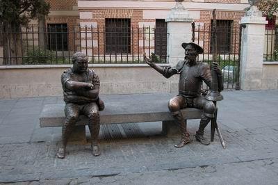 Don Quijote y Sancho, Museo Casa Natal de Cervantes, Alcalá de Henares