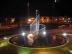 Rastro Orbital 1. Escultura acero Inox y agua