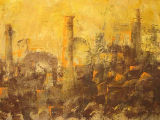Homenage a las ximeneas del pasado 116 x 145 cm | Ir a la ficha del Artista, Investigador/Docente 'Ximo Canet'