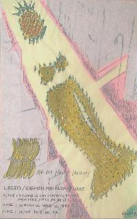 MIRALDA, ANTONIO Carmen Miralda Float Collage sobre papel, 104x70 cm.  Año 1989
