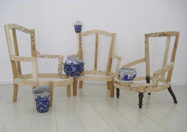Concha García ST, 2011. Instalación escultórica | Ir a la ficha de 'Galeria Pilar Serra'. Galería de arte