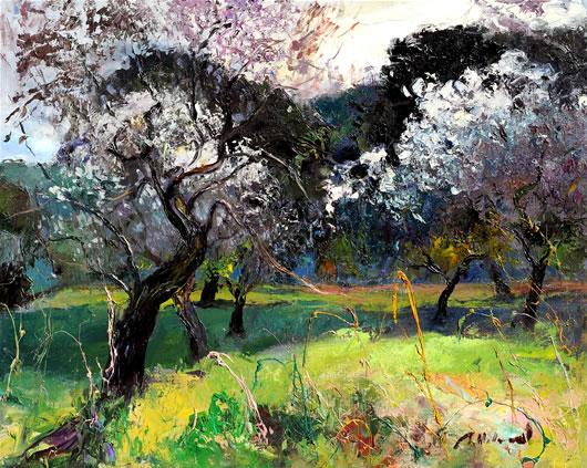 R.Vilanova-Ametllers florits-Oleo sobre lienzo.65x81cm. | Ir a la ficha de 'Omnium Ars'. Galería de arte