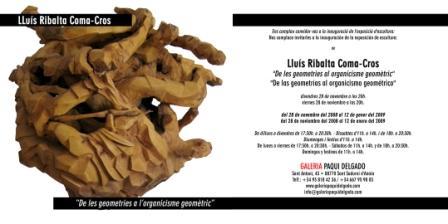 Invitación para la exposició de Lluís Ribalta
