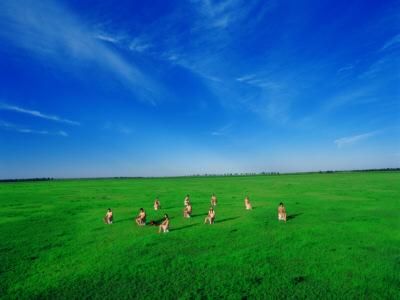 Man and Sky as One Series Nº1, fotografía de performance, 160x120cm, 2003