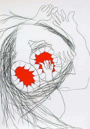 Bocas rojas-4 -dibujo
