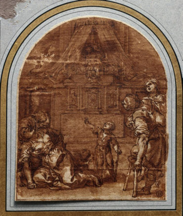 Alonso Cano, Milagro ante la tumba de San Pedro Mártir, ca. 1665