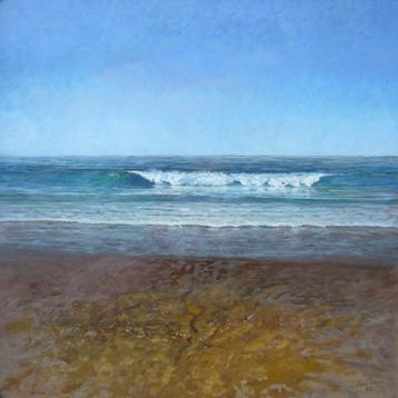 Luis Vecilla. Mar Cantábrico.  Óleo sobre lienzo. 100 x 100 cm.