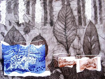 Bosque de hojas azules