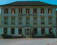 Roman Signer, Fensterladen mit Raketen, Weissbad, 1992