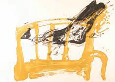 Antoni Tàpies, Variations II chaise et pied, 1983