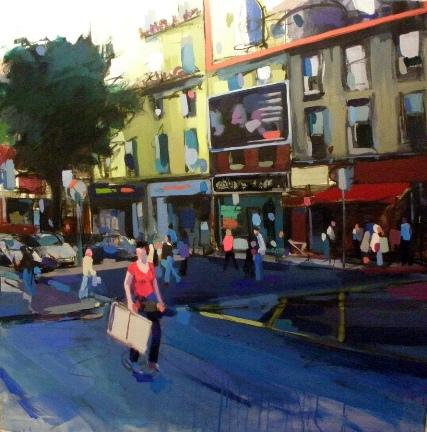 Grises de Dublín Acrílico, 100x100
