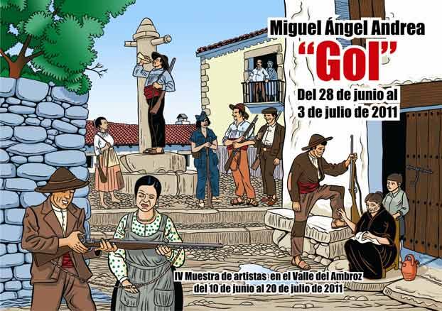 Gol | Ir al evento: 'Miguel Ángel Andrea. Gol'. Exposición de Artes gráficas en Museo Pérez-Comendador-Leroux / Hervás, Cáceres, España