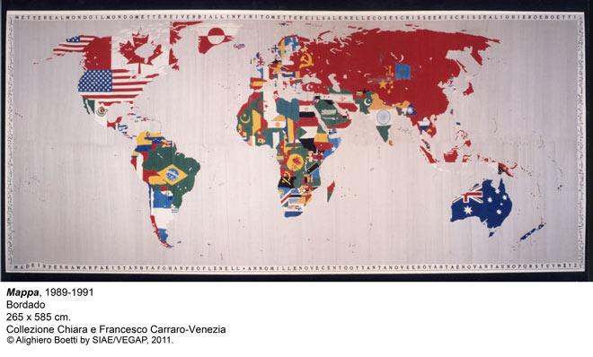 Alighiero Boetti, Mappa, 1989-1991