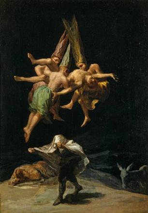 Francisco de Goya, Vuelo de brujas, 1797. Museo Nacional del Prado, Madrid