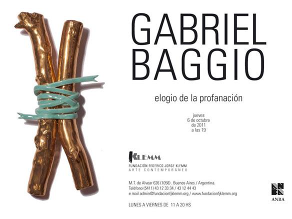 Gabriel Baggio, Elogio de la profanación
